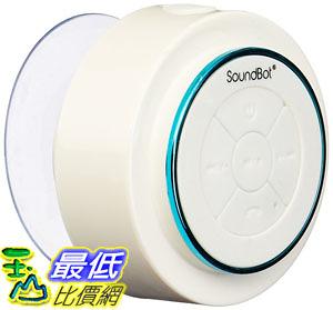 [107美國直購] SoundBot 防水喇叭 SB517 IPX7 Water-Proof Bluetooth Speaker (Blue/White)