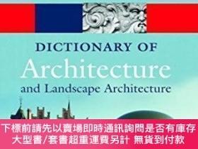 二手書博民逛書店A罕見Dictionary Of Architecture And Landscape Architecture奇