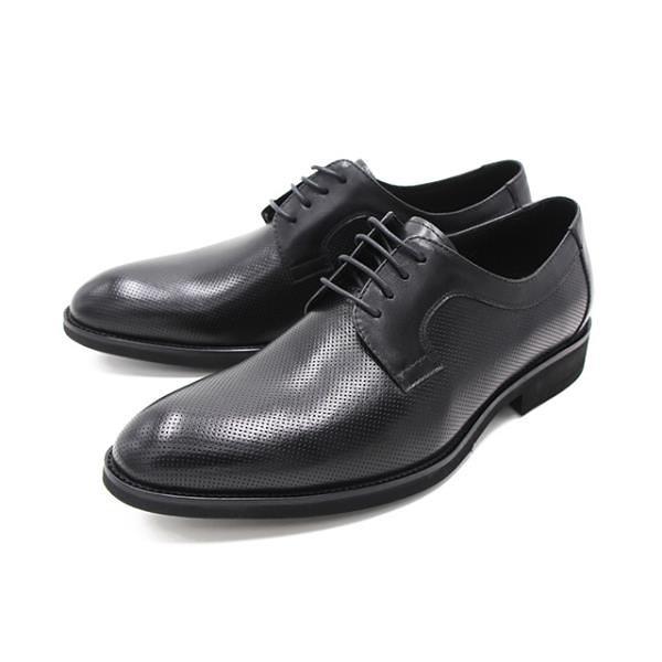 【南紡購物中心】WALKING ZONE(男) 尖頭暗紋綁帶皮鞋 男鞋-黑(另有深咖)