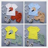 嬰兒短袖套裝 短袖上衣 +短褲 寶寶童裝CK0454 好娃娃