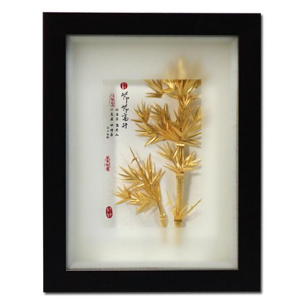 【鹿港窯】居家開運立體金箔畫- 古香系列 【節節高昇】 .附精美包裝&提袋