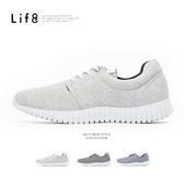 Sport 輕量 雙色針織布 3D彈簧運動鞋-白灰【09772】