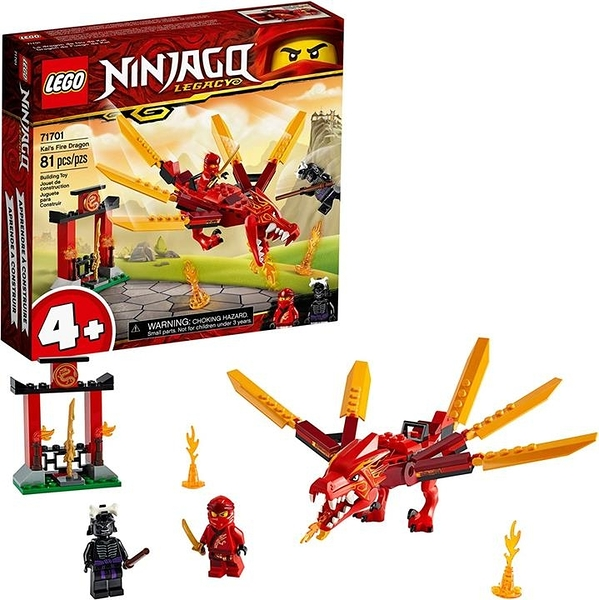 LEGO 樂高 NINJAGO Legacy Kai s Fire Dragon 71701 Dragon Toy Figure Building Kit New 2020(81 Pieces)