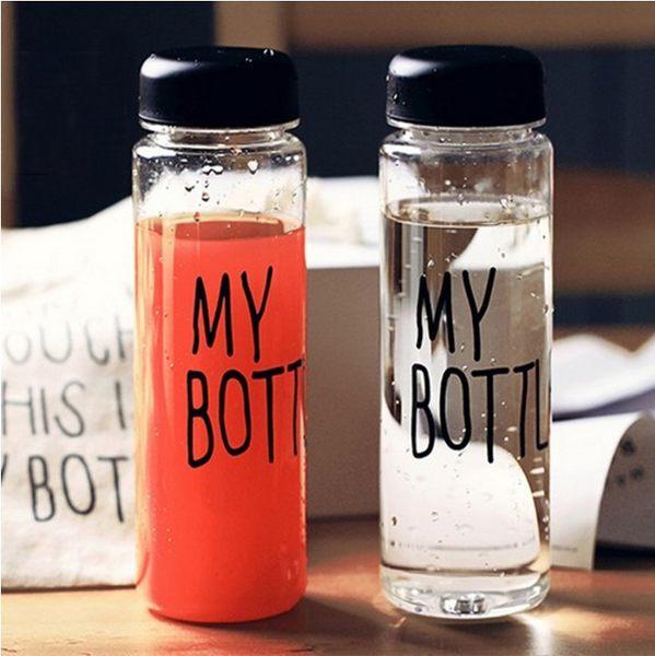 水杯 【KCP006】My Bottle透明質感隨身杯550ml(送麻布套) 寬口杯 水瓶 運動水壼 食品級PP-123ok