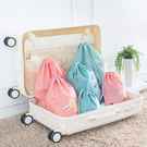【TT】可愛卡通束口袋 抽繩袋套裝 旅行收納袋 防水衣服袋子 整理袋