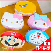 《日貨》Hello Kitty 凱蒂貓 瑪莉歐 哆啦A夢 蛋黃哥 美樂蒂 正版 濕紙巾 (80抽) + 專用盒 B23876