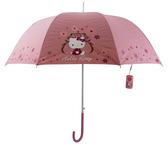 【卡漫城】 Hello Kitty 直立傘 粉色小花 ㊣版 掛鉤把手 凱蒂貓 輕便 陽傘 抗UV 按壓自動 雨傘 拱型