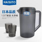 大容量家用冷水壺塑膠茶壺耐熱涼水壺防爆果汁紮壺耐高溫水杯 限時八八折最後三天