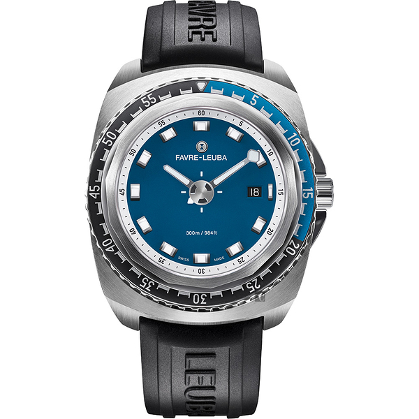 FAVRE-LEUBA 域峰 RAIDER Deep Blue 300米潛水機械錶-44mm 00.10102.08.52.31
