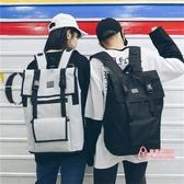 男生後背包 港風原宿大容量後背包男時尚潮流韓版校園學生書包女旅行電腦背包 3色