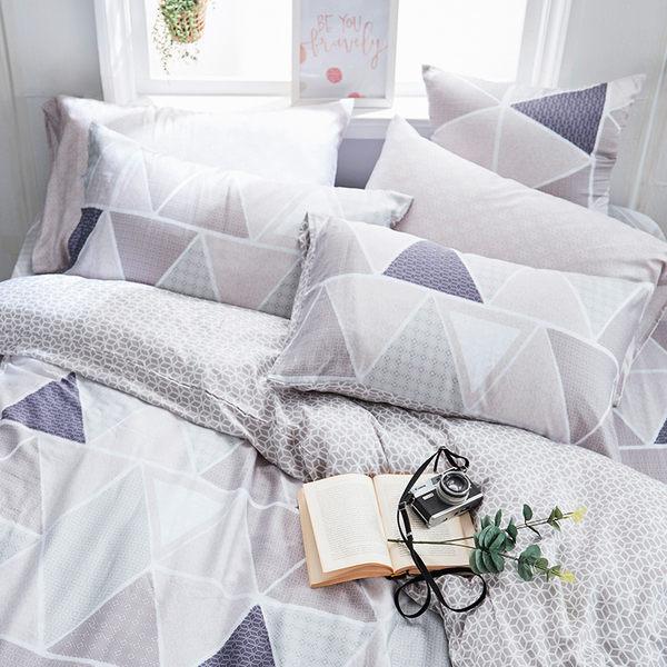 床包 / 雙人【北歐菱線】含兩件枕套  60支天絲  戀家小舖台灣製AAU201