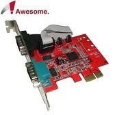 Awesome PCIe 2埠RS-232 I/O卡 AWD-952ER2