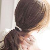 UNICO 韓版 磨砂優雅串珠髮繩/髮圈