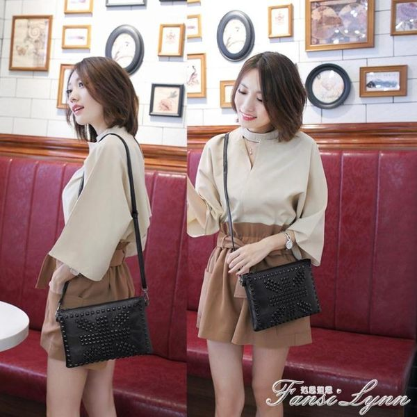 小包包女新款手拿包潮包大容量韓版個性時尚百搭單肩包斜背包  范思蓮恩