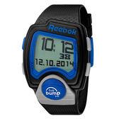 Reebok PL系列空中飛人電子運動腕錶-藍x黑