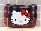 【震撼精品百貨】Hello Kitty 凱蒂貓~Hello Kitty日本SANRIO三麗鷗KITTY化妝包/面紙包-格紋*06285