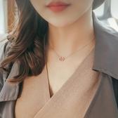 項鍊 s925純銀項鍊幾何鏤空愛心形吊墜 女韓版簡約氣質鎖骨鍊生日禮物【限時八五鉅惠】