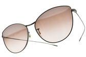OLIVER PEOPLES 太陽眼鏡 RAYETTE 5284B8 (銅-淡白水銀漸層粉鏡片) 微貓眼造型款 墨鏡 # 金橘眼鏡