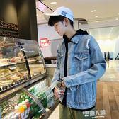 牛仔外套男秋季韓版學生夾克男士寬鬆潮流褂青少年帥氣破洞牛仔衣 9號潮人館