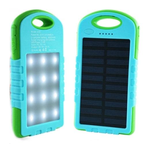 【3期零利率】全新 太陽能露營LED燈行動電源 8000mAh 雙孔輸出 總輸出2A 燈號電量顯示