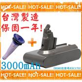《搭贈中置濾網》Dyson DC58/DC59/DC61/DC62/SV03/SV07/SV09/V6/DC74 系列吸塵器適用 鋰電池