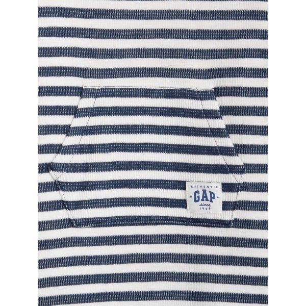 Gap男嬰兒 舒適條紋短袖一件式包屁衣 442354-海軍藍色