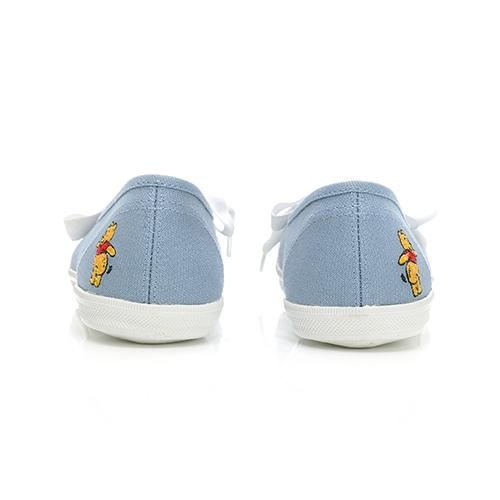 DISNEY 甜美氛圍 維尼印花 緞帶懶人鞋-藍(DW7102)