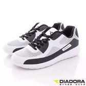 DIADORA-TPU記憶鞋墊E楦跑鞋款-DA6AMC3138-白黑-男段-(現+預)