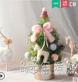 小聖誕樹聖誕節北歐桌面發光擺件餐廳商場裝飾品迷你聖誕樹 WD 小時光生活館