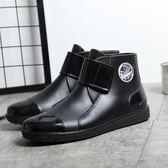 雨鞋男士雨鞋短筒防滑防水低幫時尚膠鞋水靴韓版雨靴秋季加棉套鞋 生活優品