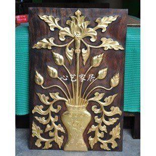 木雕金箔畫