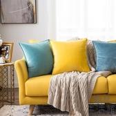 抱枕北歐風靠墊純色靠枕座椅護腰靠背墊沙發抱枕套【極簡生活】