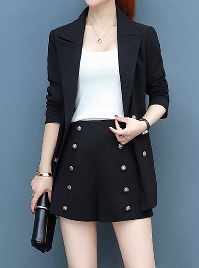 FINDSENSE品牌 秋季 新款 韓國  簡約 成熟 氣質 西裝外套+休閒 西