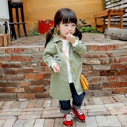 韓版TIME TO Blossom立體字母長版襯衫親子裝(小孩)