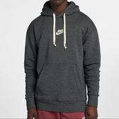 Nike Sportswear Heritage [928438-010] 男款 運動 健身 連帽 長袖 上衣 棉柔 灰