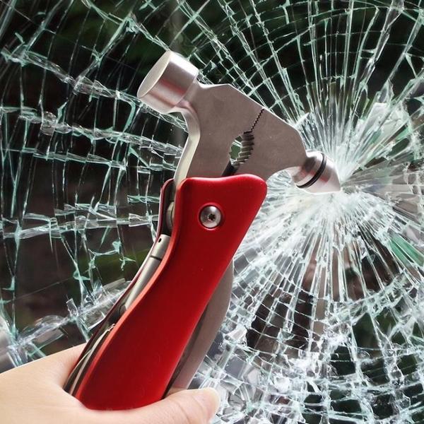 多功能救生锤 車用安全錘逃生錘汽車破窗器車載多功能軍刀榔頭隨身迷你救生錘