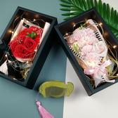特賣母親節禮物花束康乃馨女友生日禮物仿真假花肥皂香皂花禮盒玫瑰花伊蘿精品