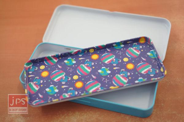 Tuxedosam 企鵝 太空 雙層鐵筆盒 (紫)