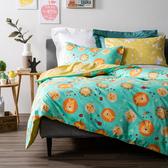 (組)獅王森巴純棉防螨抗菌兩用床被組-雙人