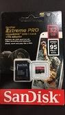 【聖影數位】SanDisk Extreme pro MICRO SDHC 32GB 95mb 633x U3 4K 公司貨 3期0利率