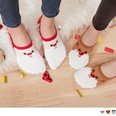 《ZB0513》韓國微笑聖誕發糖隱形短襪 OrangeBear