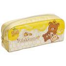 San-X 拉拉熊蜂蜜森林豐收節系列防水筆袋包。金黃