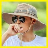 帽子男夏天漁夫帽戶外防曬遮陽帽太陽帽韓版男士沙灘登山釣魚帽