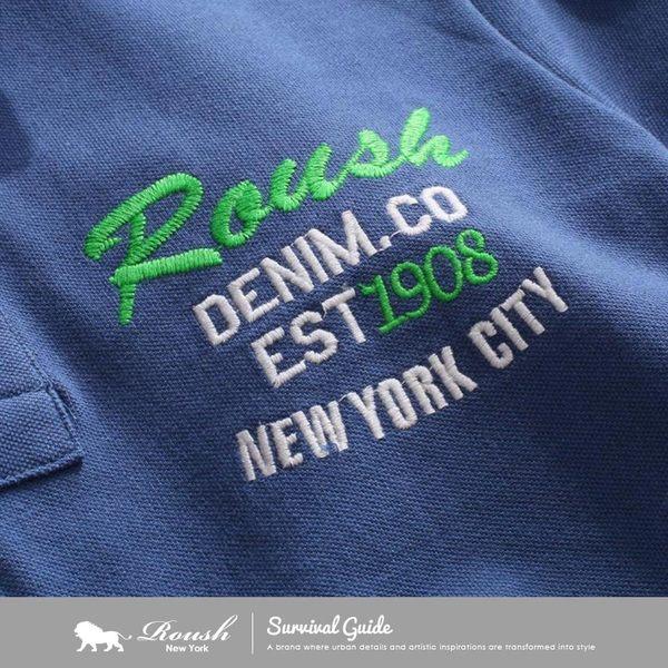 【Roush】特殊印花領片貼布短袖polo衫 - 【615288】