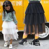 中大尺碼女童半身裙中大兒童中長款裙網紗蓬蓬裙 zm5543【每日三C】