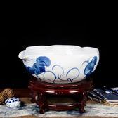 陶瓷器古典金魚缸睡蓮盆碗蓮大號烏龜缸養魚盆養花盆 免運快速出貨