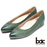 ★2018春夏新品★bac  秀氣典雅時尚品味尖頭平底鞋(綠)