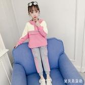 女童套裝 2019秋裝新款超洋氣時尚休閑中大童運動兒童兩件套潮 YN1221『寶貝兒童裝』