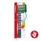 STABILO 德國 思筆樂 EASYgraph 洞洞鉛筆 藍綠色 右手筆 2支入 / 組 B-39890-10