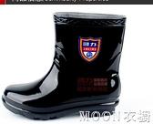 男士雨靴 回力短筒雨鞋男款季雨靴加厚耐磨防水鞋水靴膠鞋廚房工作 母親節特惠